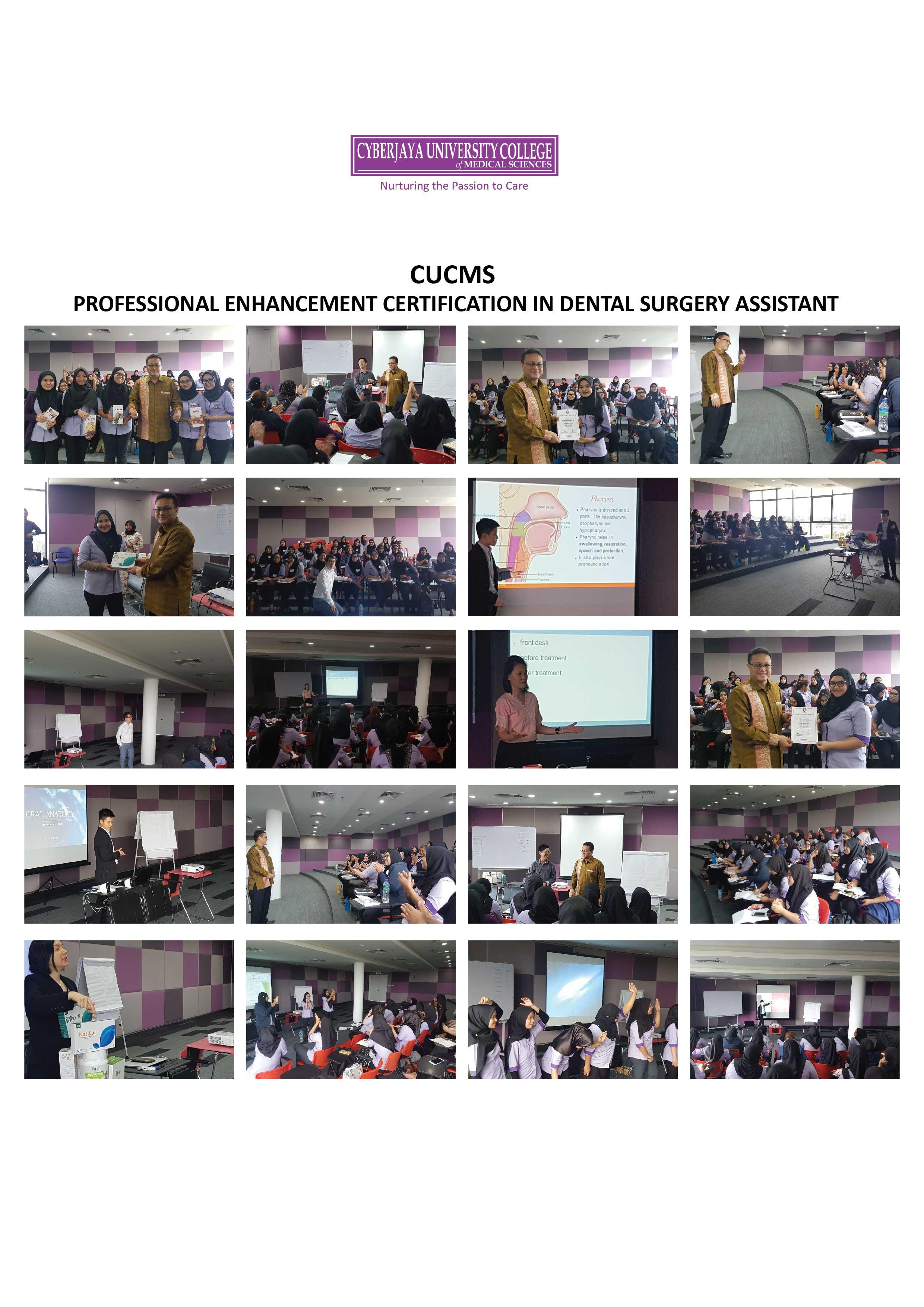 CUCMS PROFESSIONAL ENHANCEMENT CERTIFICATION IN DENTAL SURGERY ASSISTANT